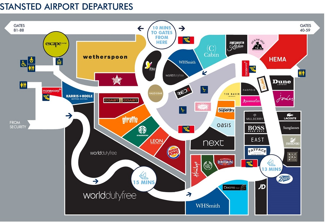 Stansted After Security Map
